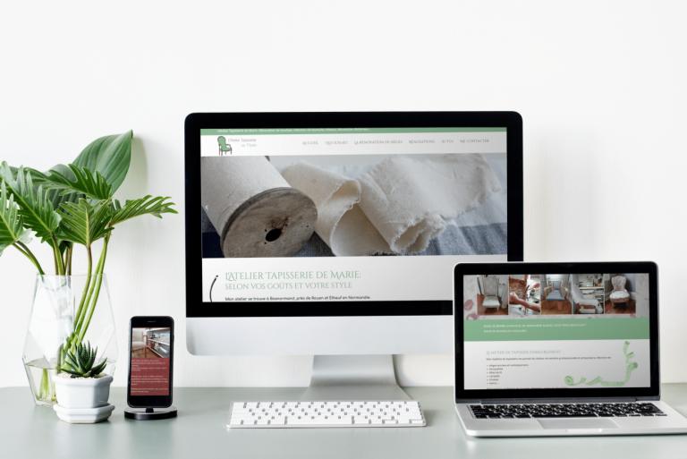 Maquette web site tapisserie